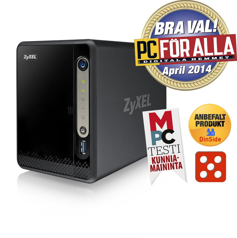 Zyxel NSA325 v2 Power Plus Media Server - 2-Bay / 1 6GHz / USB 3 0 (no disk)