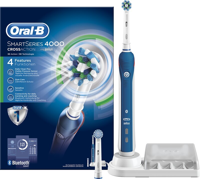 Oral-B Smart 4000 CrossAction Eltandborste - Hälsa   Personvård -  Webhallen.com a633345057722