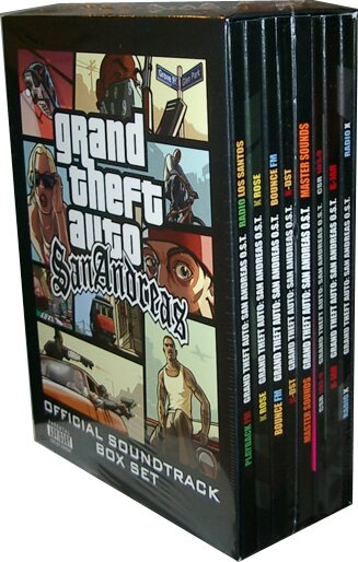 Grand Theft Auto (GTA) - San Andreas Soundtrack Box